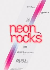 Neon Rocks @ BlackJack